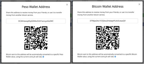 The String Of Letters And Numbers At Middle Pop Up Is Your Coinsph Wallet Address You May Also Use QR Code To Receive Bitcoin In