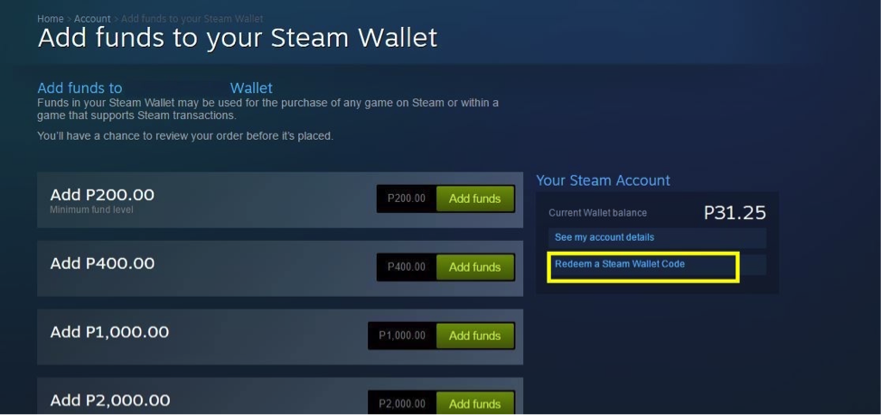 How to redeem Steam Wallet Codes? – Coins ph Help Center
